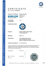 Wheel nut: Certificate TÜV Product Service