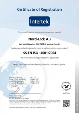 NL: Certificate of Registration SS-EN ISO 14001:2004