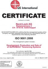 SB: Development, Production and Sale Certificate ISO 9001:2008