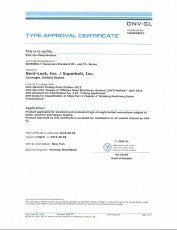 SB: DNV GL Type Approval Certificate